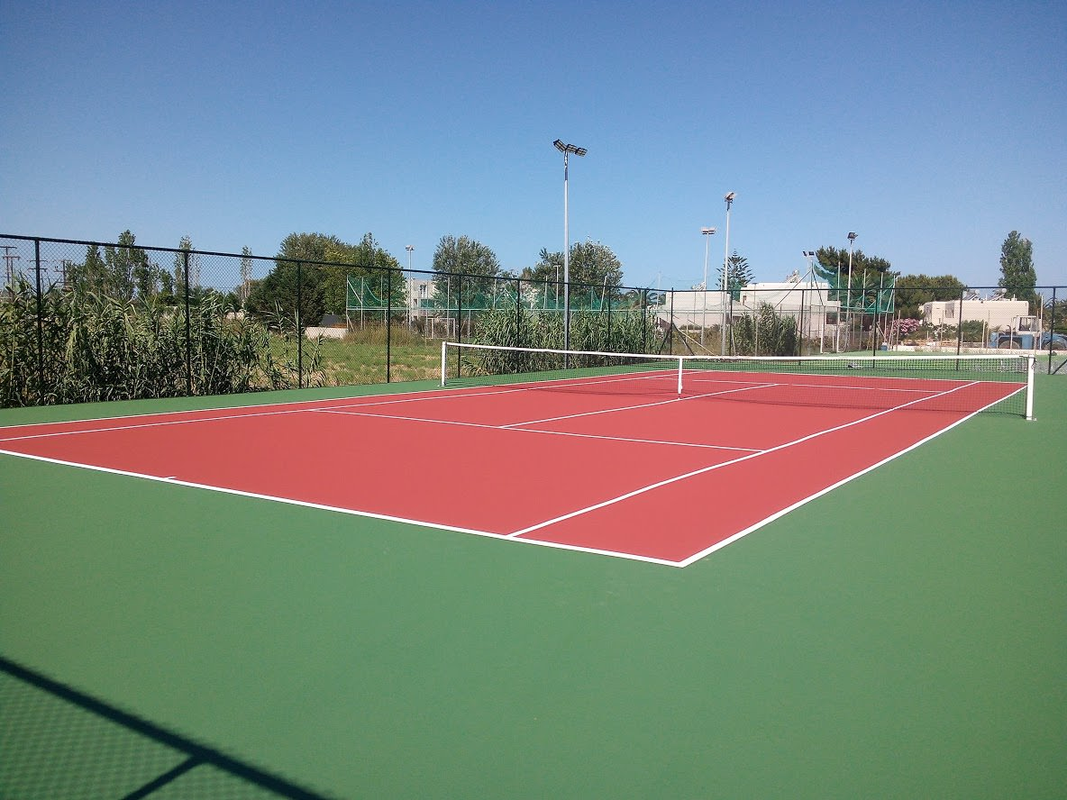 2 acrylic terrain tennis courts (additional charge for floodlight)